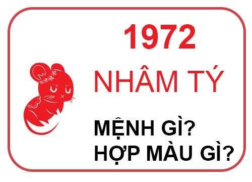 sinh năm 1972 mệnh gì?